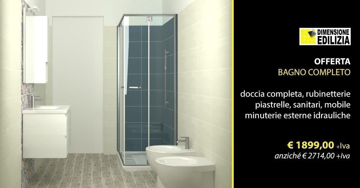 Bagni Completo Di Piastrelle : Offerta bagno completo u ac iva anziché u ac iva